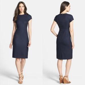 Tory Burch Blue Wool Sheath Portia Dress
